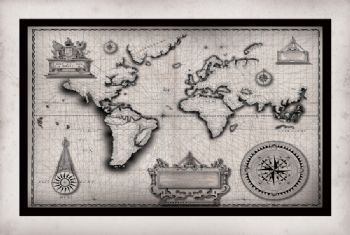 The Old World Map Print